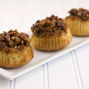 sticky pecan upside down cupcakes