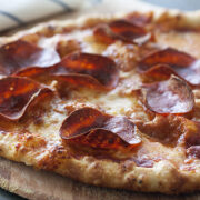 Pepperoni Pizza Garlic Crust