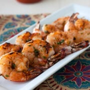 Sriracha Shrimp Skewers