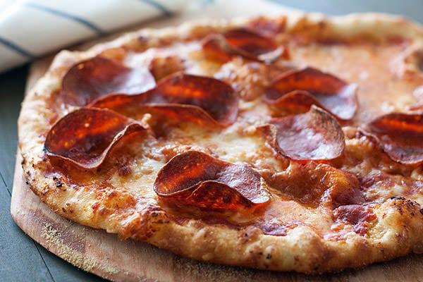 Pepperoni Pizza with Garlic Crust Recipe