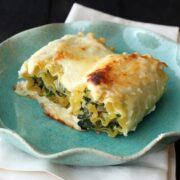 Spinach Artichoke Lasagna Roll Ups - way quicker and easier than regular lasagna!