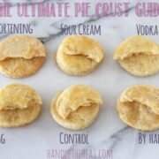 The Ultimate Pie Crust Guide breaks down small ingredient and technique changes to discover which pie crust recipe is the best!