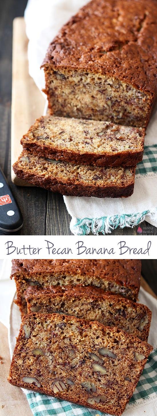 Butter Pecan Banana Bread - our new favorite banana bread recipe!