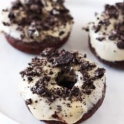 Cookies and Cream Chocolate Doughnuts