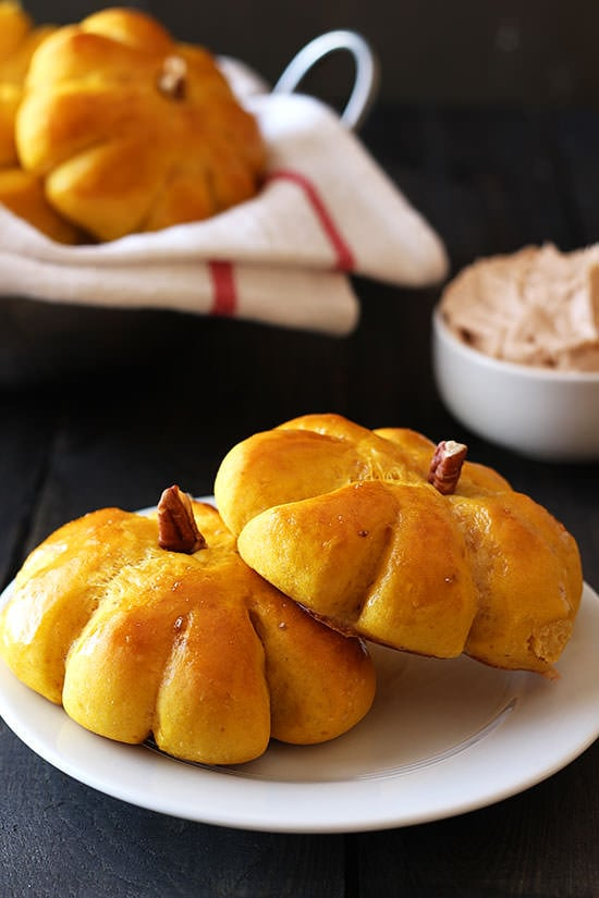 Pumpkin Bread Rolls with Cinnamon Butter - everyone wanted this recipe!