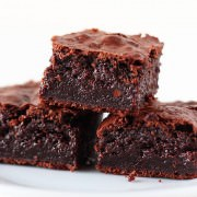 Holy YUM! These are the most rich, fudgy, and moist brownies I've ever eaten!